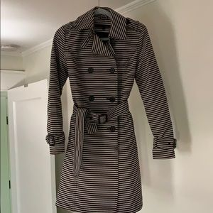 Striped Kenneth Cole Trench Coat